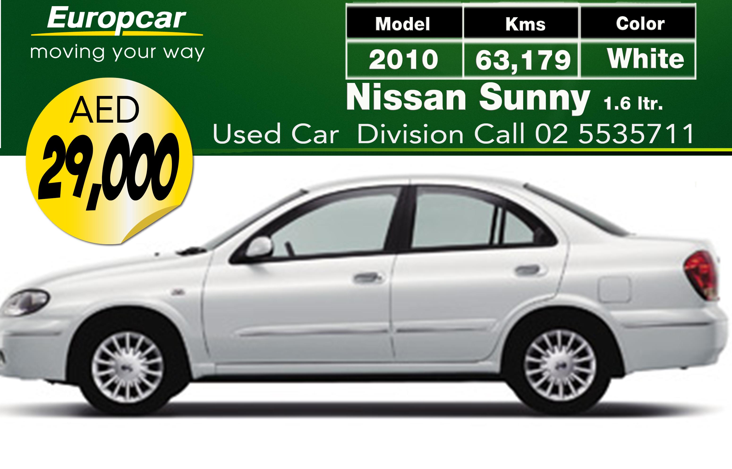 Europcar Abu Dhabi Used Car Nissan Sunny