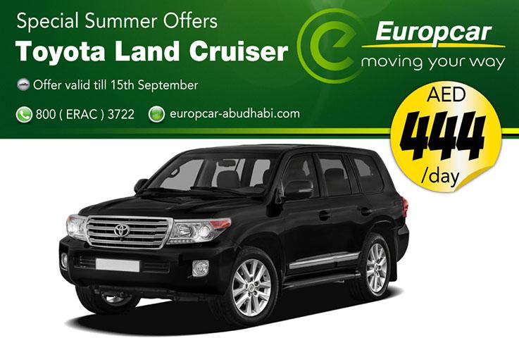 Europcar Abu Dhabi Summer Rates Toyota Land Cruiser