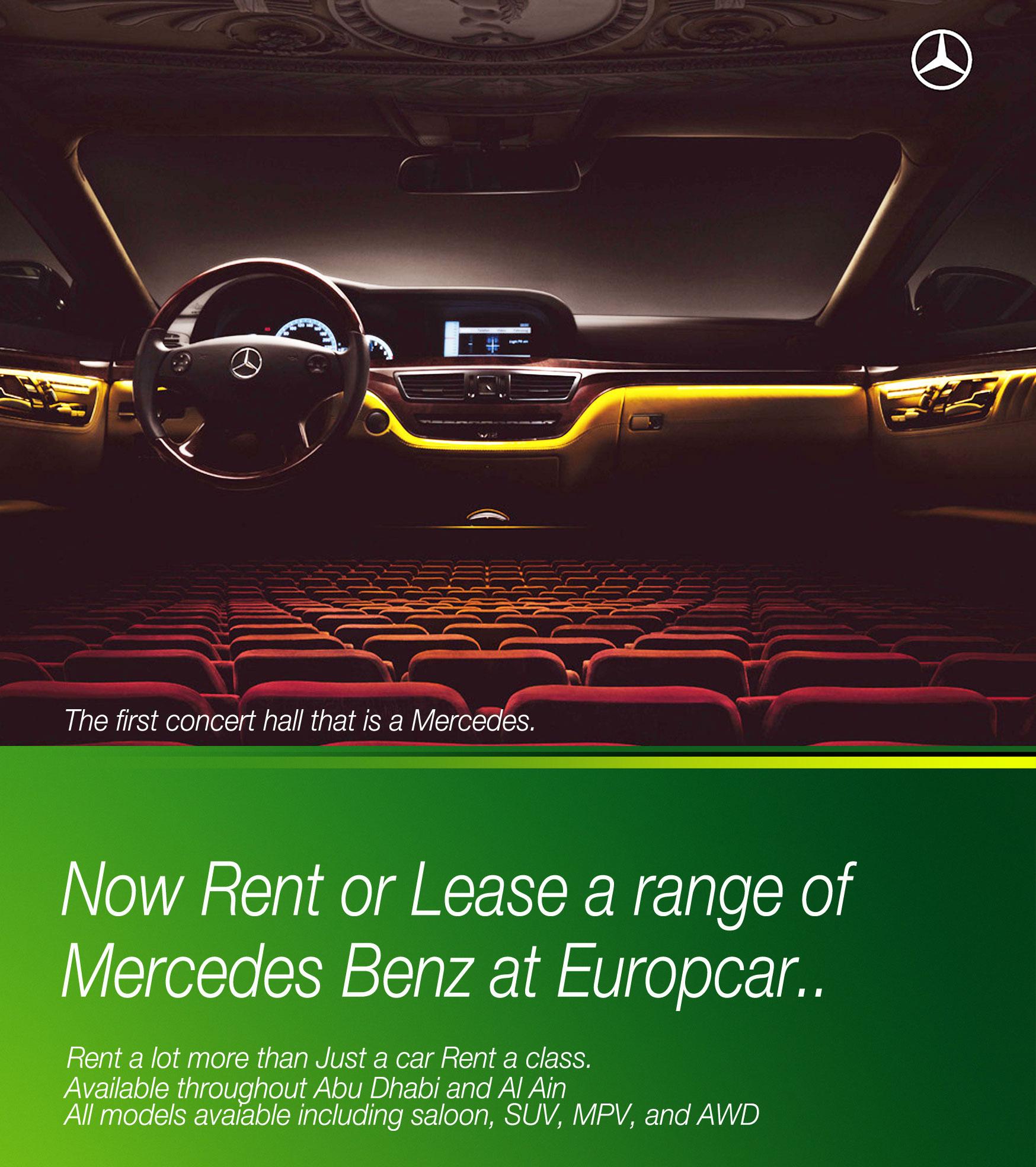 Europcar Abu Dhabi Mercedes