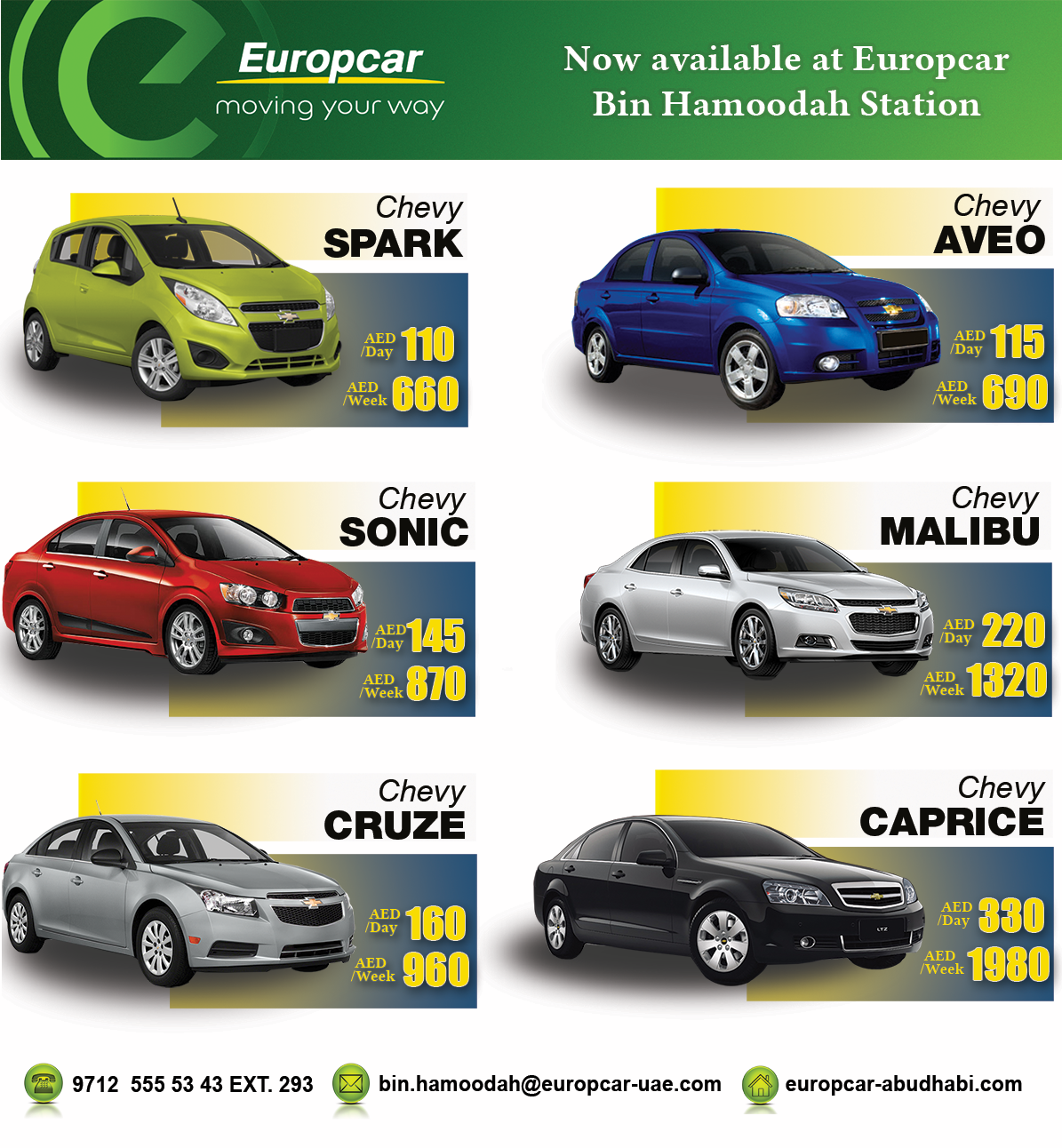 Europcar Abu Dhabi Now Available At Europcar Bin Hamoodah Station