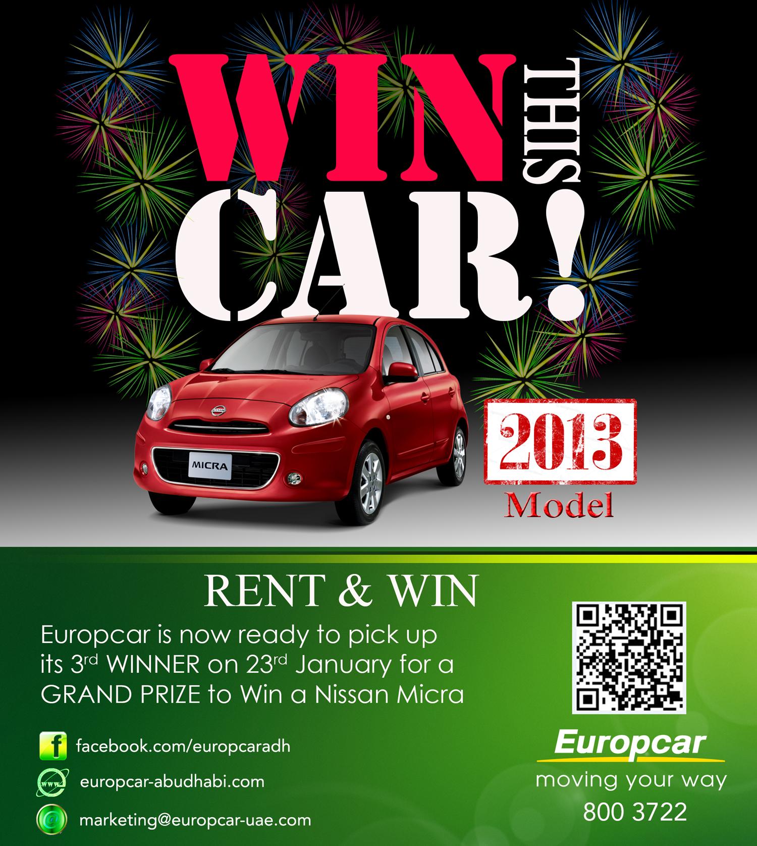 Europcar Abu Dhabi Rent Win